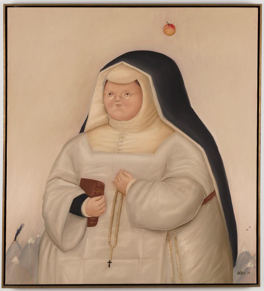 Fernando Botero_The Temptation of Santa Rita, 1970