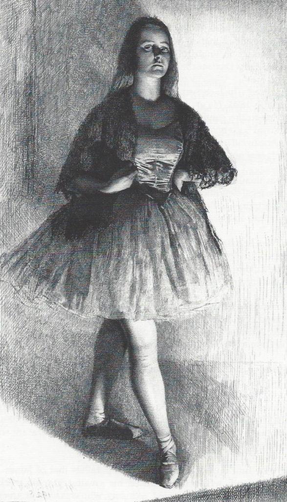 Gerald Leslie Brockhurst (English,1890-1978) The Dancer, etching (b.12), 1925