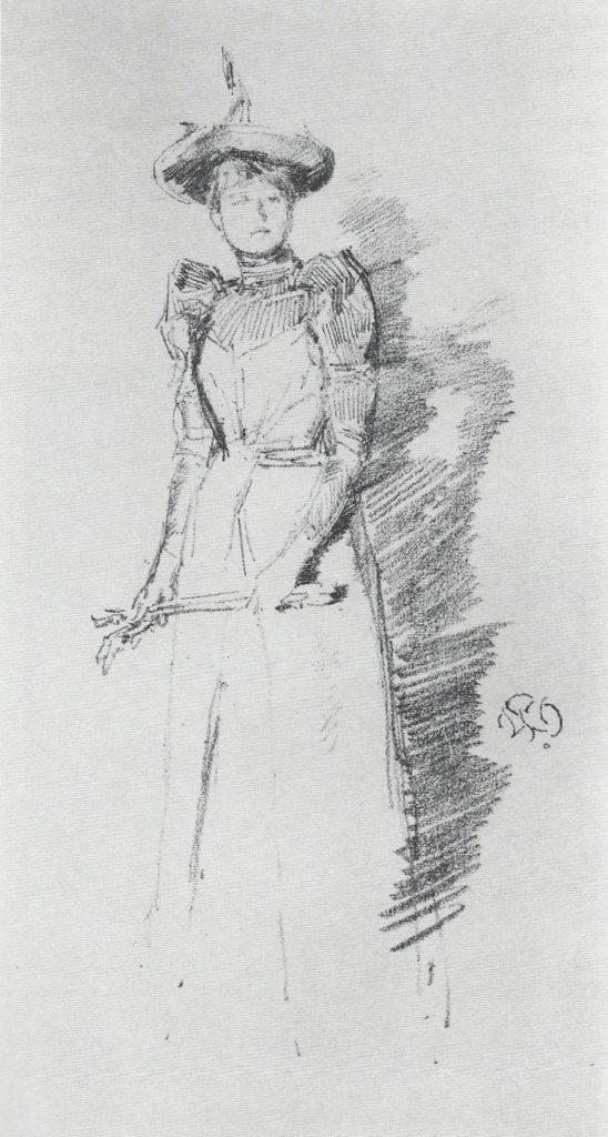 James Abbott McNeill Whistler (American, 1834-1903) Gants de Suede, Lithograph (M.12), 1890