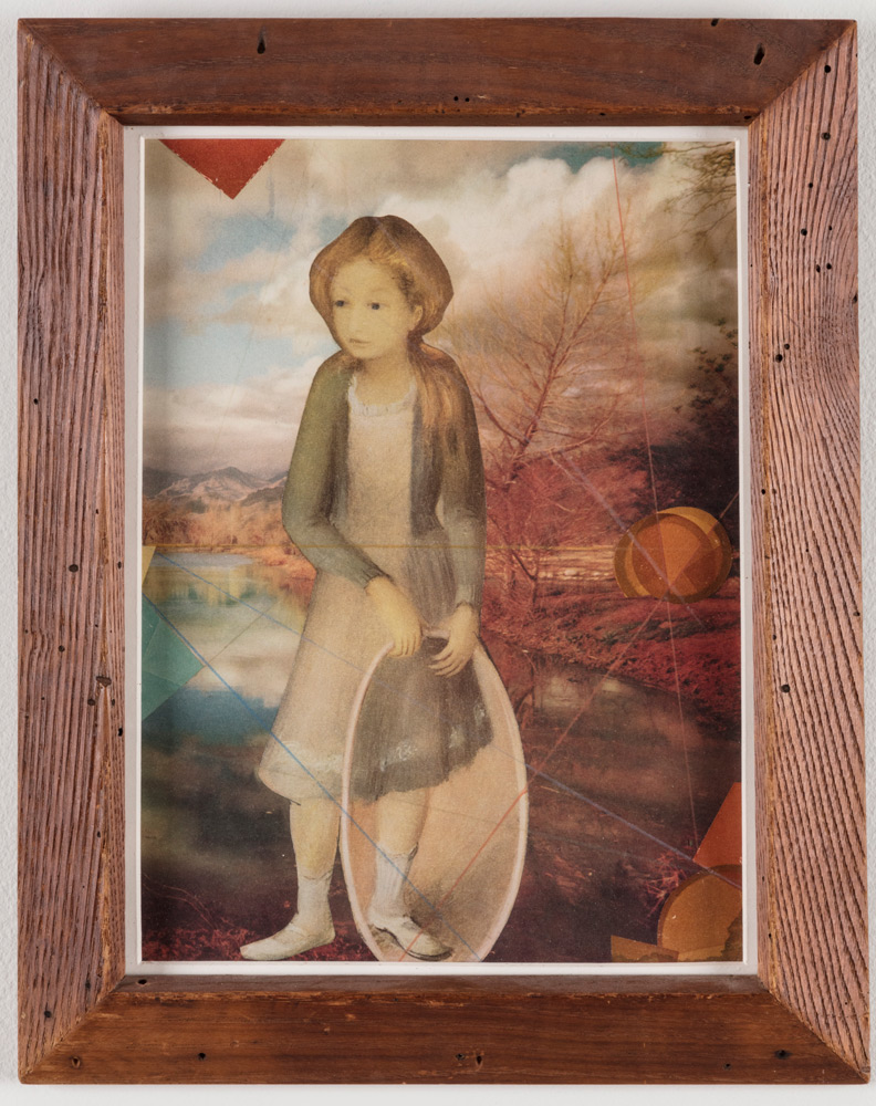Joseph Cornell_A Girl with Hoop,1960, collage