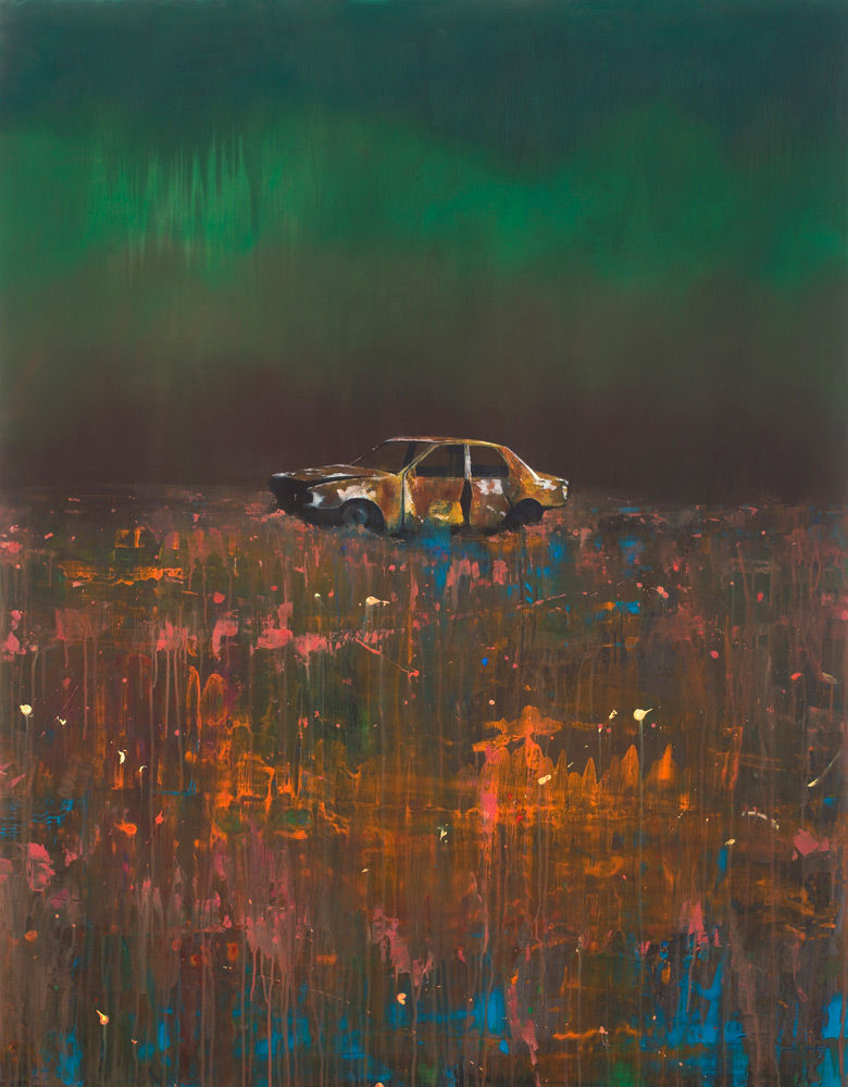 Nick Archer, White Car (2019) acrylic on canvas Gallery