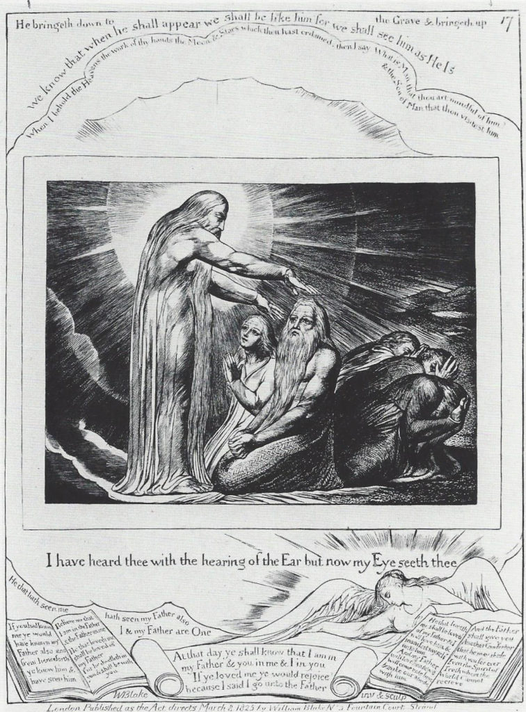 William Blake (English, 1757-1827) I have heard Thee with the Hearing of the Ear..., from The Book of Job, no. 17, Engraving (M.4), 1825